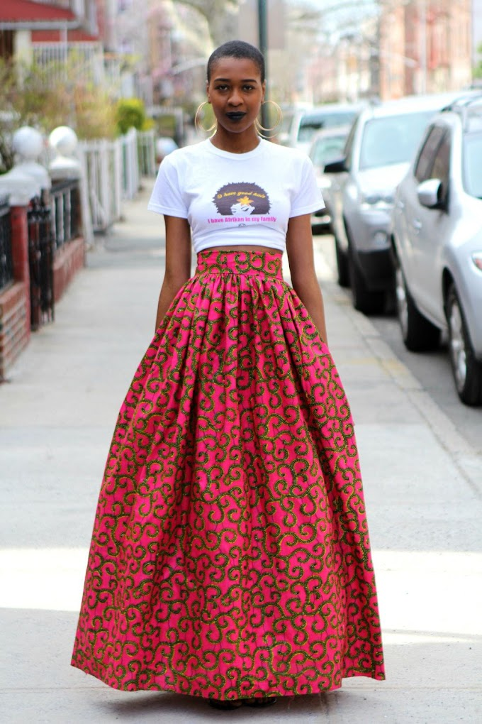 Beautiful African Girls Showing off in Their Ankara Free-Style Skirts Styles Pics