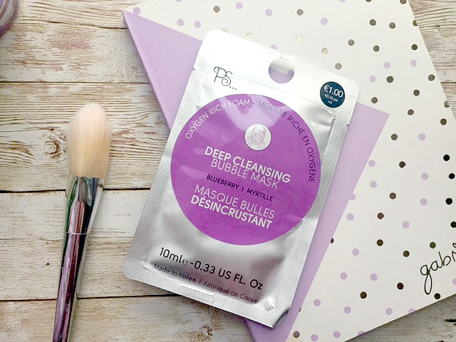 Primark deep cleansing bubble mask review