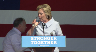 Hillary Clinton Fights Back Coughing Attack