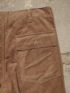 "Engineered Garments ""Fatigue Short in Khaki 14W Corduroy"""