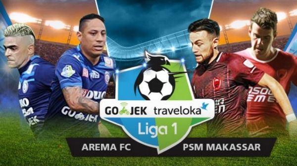 Jadwal Liga 1 Rabu 30 Agustus 2017 - Siaran Langsung TV One Arema vs PSM