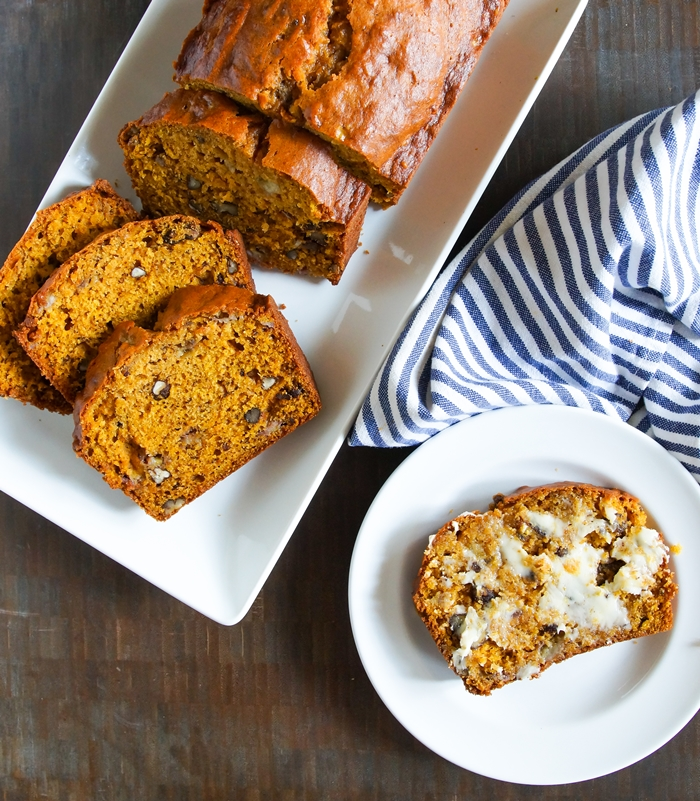 Pumpkin Banana Bread, recipe for The Pioneer Woman Food & Friends from bakeat350.net