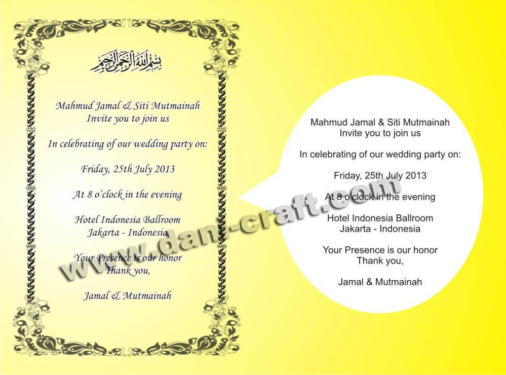 Undangan pernikahan formal dalam bahasa inggris invitation contoh invitation card kartu undangan dalam bahasa inggris stopboris Choice Image