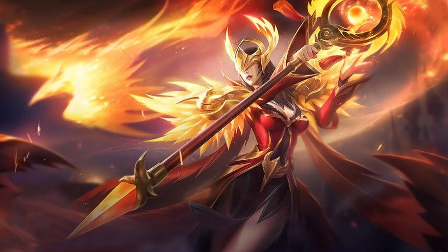 Pharsa, Empress Phoenix, Mobile Legends, Skin, 4K, #5.2495
