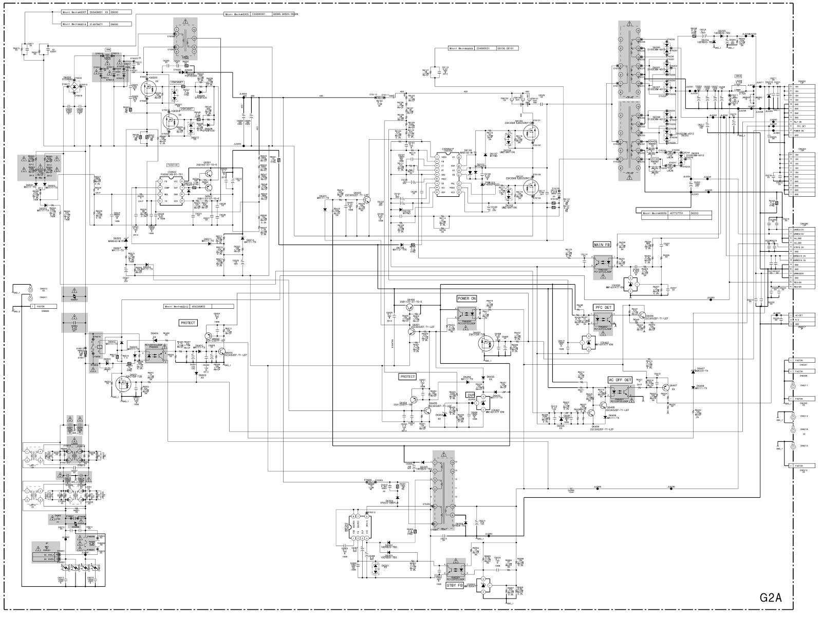 Sony LCD TVs KDL32V2000, Sony40V2000, Sony46V2000 – SMPS schematic ...