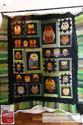 Funky Owls quilt full front