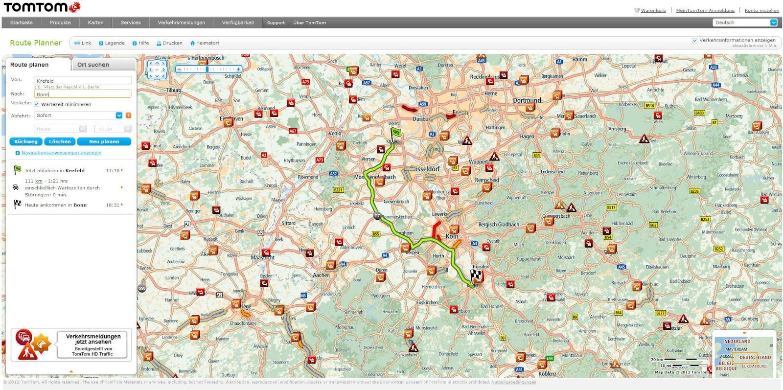 Tom Tom Route Planner >> Landkartenblog: Routenplaner Test 2012 (9) - Der Testsieger TomTom Route Planner