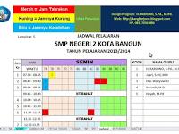 Aplikasi Jadwal Pelajaran Otomatis Format Excel Semua Jenjang Sekolah