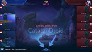 Cara Quick Chat Banned Hero Draft Pick Mobile Legends Bang Bang