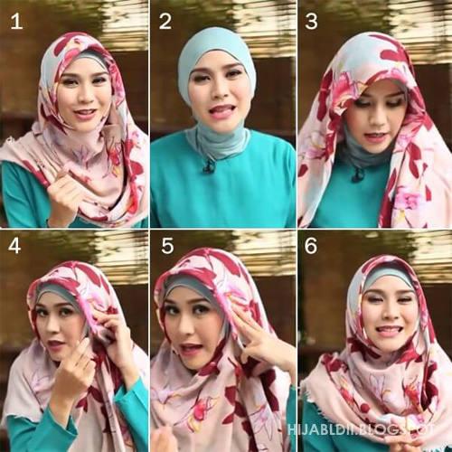 FOTO Cara Memakai Jilbab Gaya Pashmina Untuk Anak Remaja ...