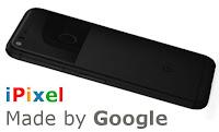 Pixelphone und Schriftzug iPixel in den Googlefarben