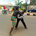 Mad man beats up pastor who attempted to deliver him (photos)