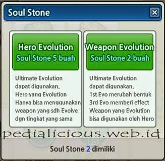 Syarat Hero Evolution LostSaga 5 Soul Stone & Weapon Evo 2 Soul Stone