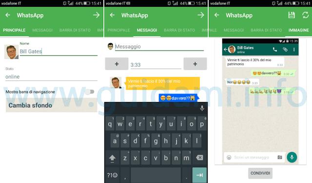 App Yazzy creare false conversazioni su Android
