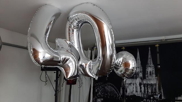 40. Geburtstag gasgefüllte Luftballons Partydekoration
