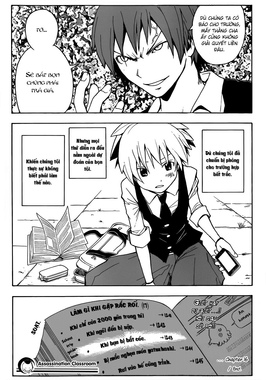 Ansatsu Kyoushitsu chap 16 trang 20
