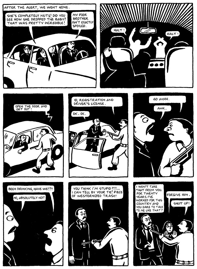 Read Chapter 14 - The Wine, page 106, from Marjane Satrapi's Persepolis 1 - The Story of a Childhood