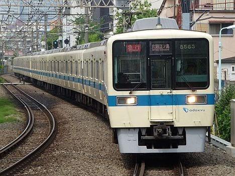 小田急電鉄 急行 片瀬江ノ島行き3 8000形(2018年までのEXPRESS表示)