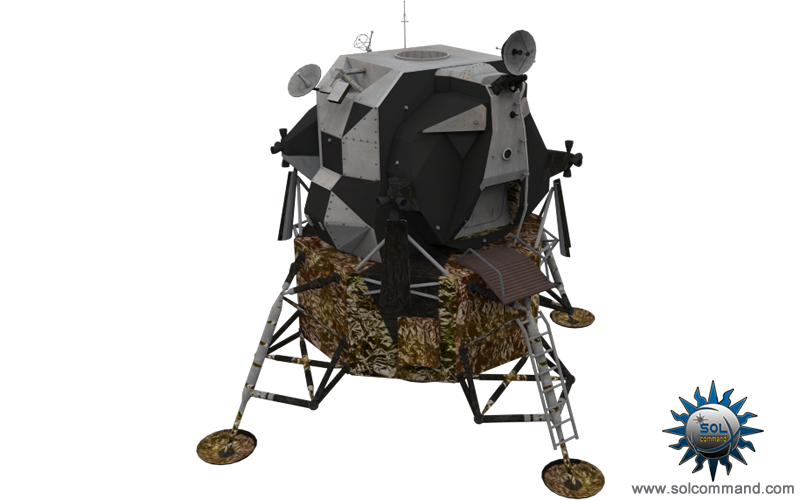 Apollo lunar module free download 3d model solcommand nasa textured game ready low polygon count