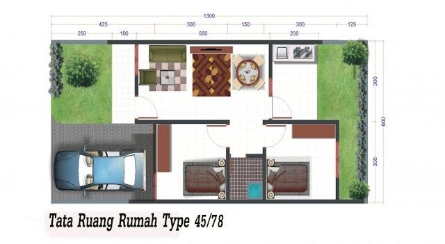Gambar Denah Rumah Minimalis Type 45