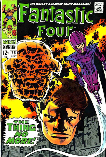 Fantastc Four v1 #78 marvel 1960s silver age comic book cover art by Jack Kirby