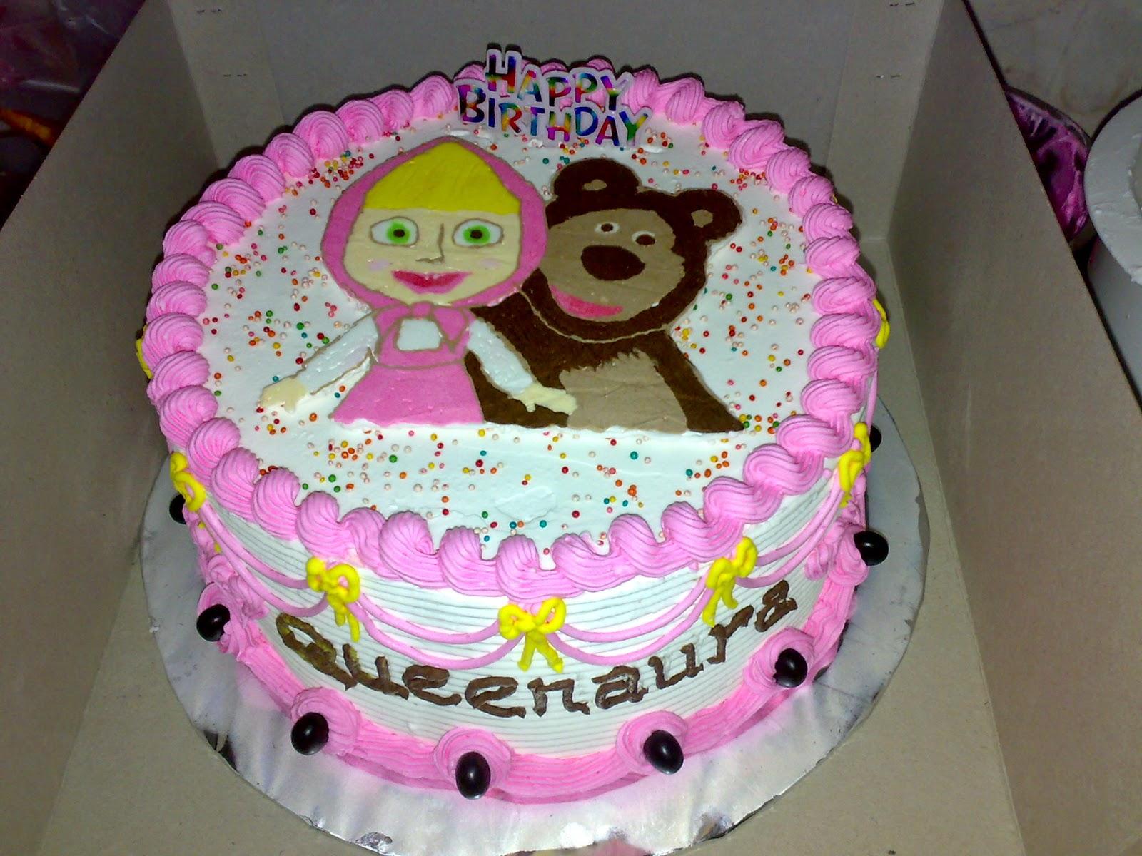 Cake Ulang Tahun Tema Marsha And The Bear