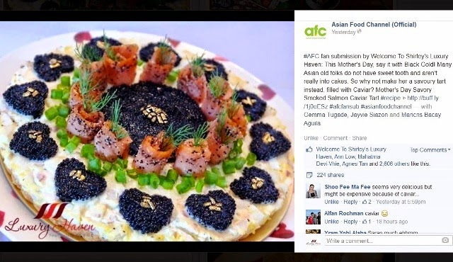 asian food channel mothers day caviar tart recipes