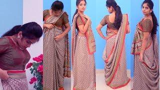 How To Wear Gujrati Style Saree drape | How To Design Saree Drape Rajrani