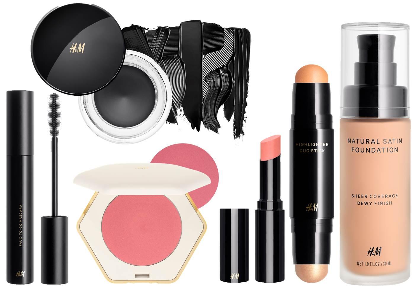 Produtos de beleza usados para criar o look de beleza do desfile da Erdem para a H&M