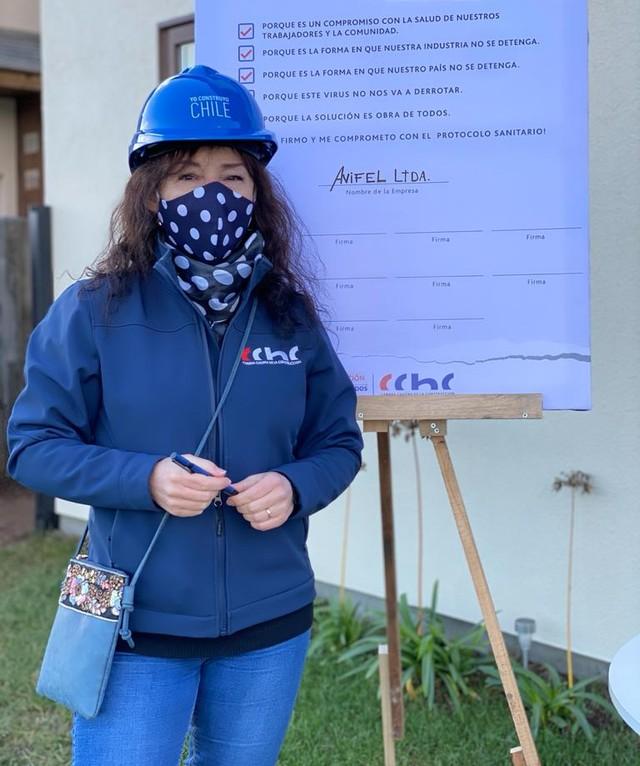 Alicia Vesperinas, presidente de la CChC Osorno