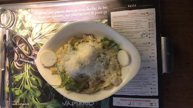 A la découverte de la nouvelle carte de Vapiano au restaurant la Défense !