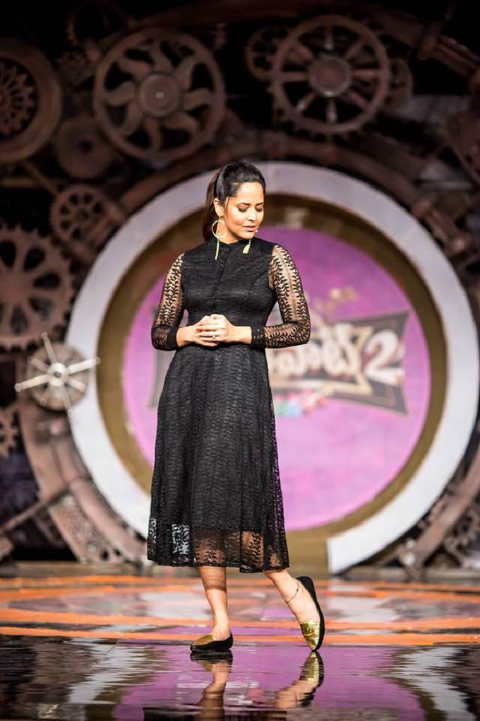 Telugu TV Anchor Anasuya Hot Unseen Photo Shoot In Black Dress 2018