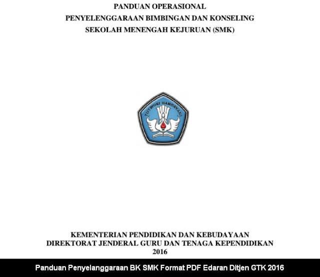 Panduan Penyelanggaraan BK SMK Format PDF Edaran Ditjen GTK 2016