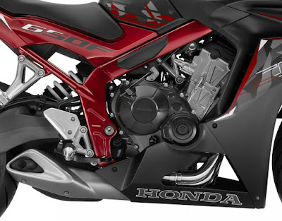 2016 Honda CBR650F ABS engine pose