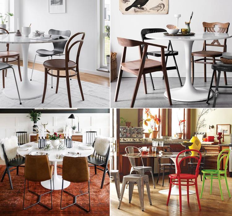 come abbinare le sedie giuste al tavolo tulip ForSedie Per Tavolo Tulip