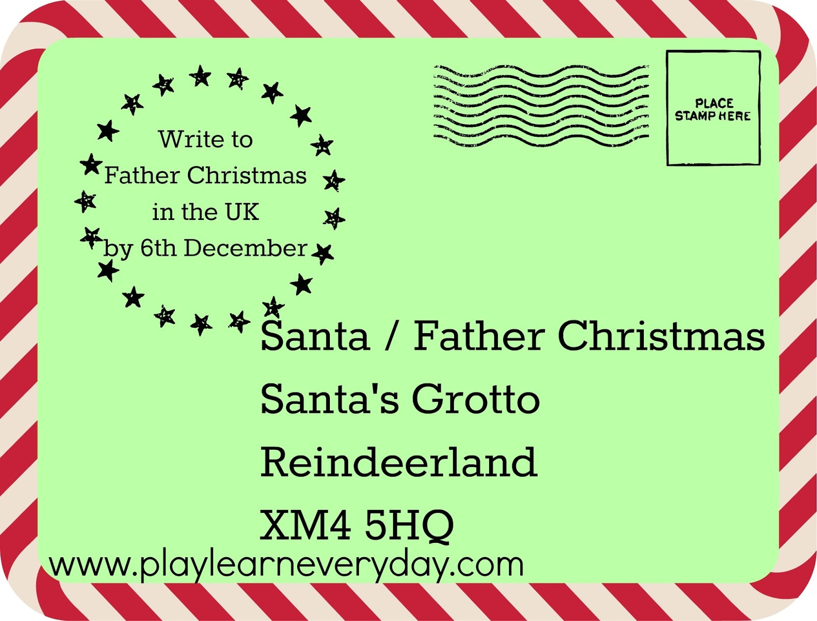 Writing Letters to Santa around the World - Play and Learn Every Day