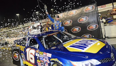 Todd Gilliland made it one for the history books collecting his third consecutive NASCAR K&N Pro Series victory. Joshua Blanchard/Getty Images for NASCAR
