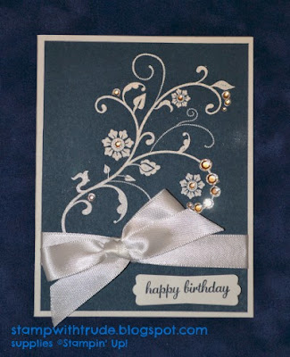 http://stampwithtrude.blogspot.com Stampin' Up! birthday card by Trude ThomanFlowering Flourishes stamp set