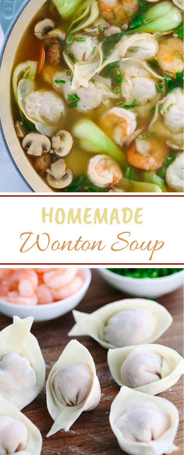 Homemade Wonton Soup #Asiafood #Soup