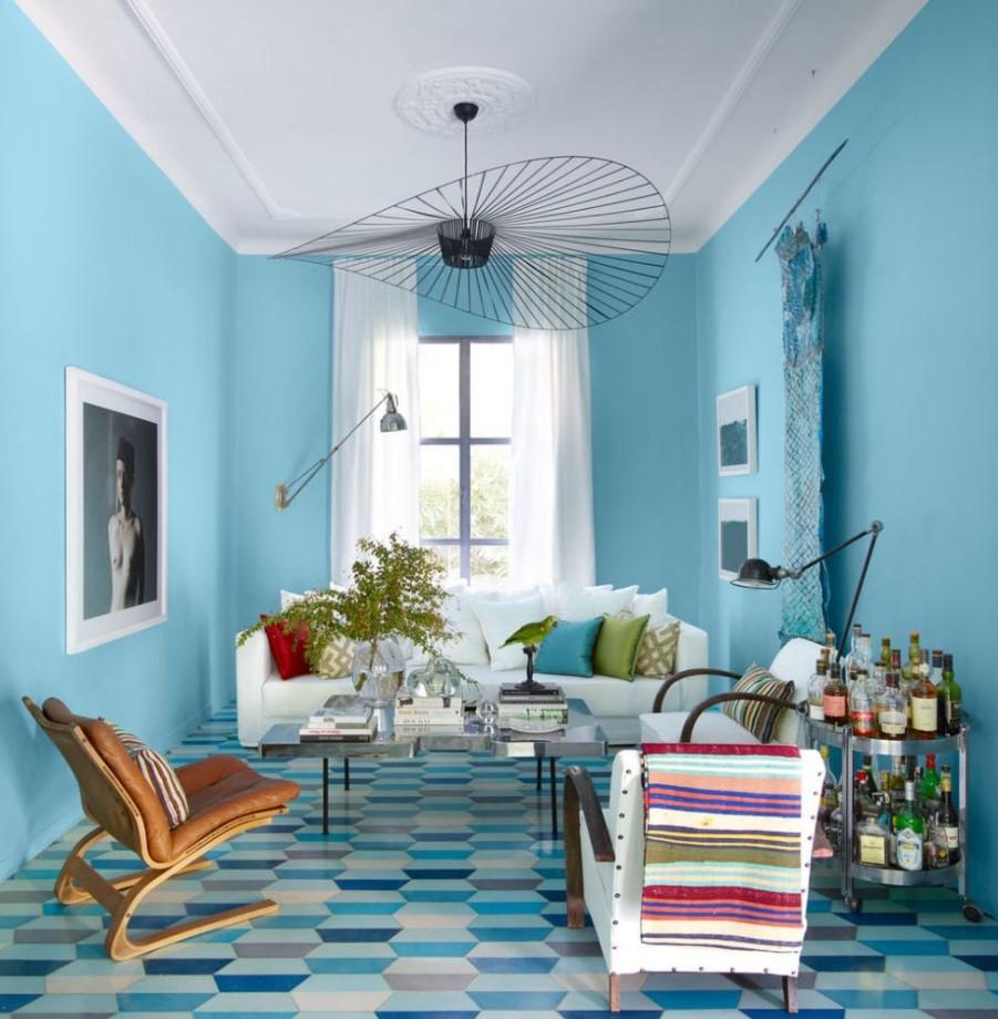 35 Warna Cat Ruang Tamu 2 Warna Yang Modern Paling