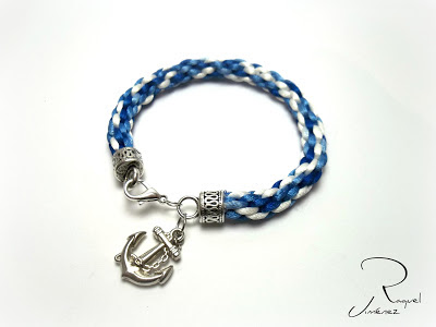 pulsera kumihimo azul