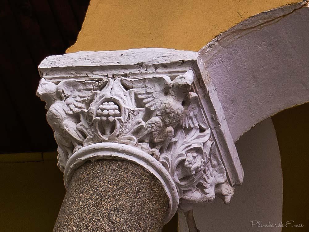 Bucuresti arhitectura Domenii detaliu decorativ neoromanesc
