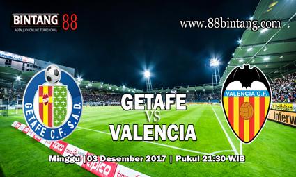 Prediksi skor Getafe vs Valencia 3 Desember 2017
