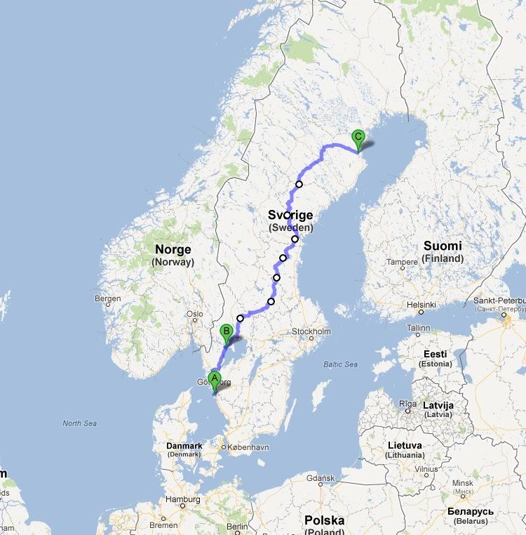 sverigeleden karta Longtourbikeblog: Sverigeleden sverigeleden karta