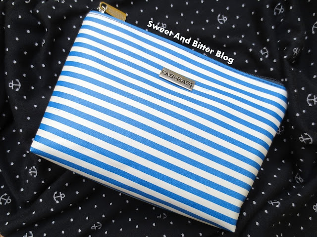 FabBag May 2015 || Beach Themed Products in Sailor Striped Pouch
