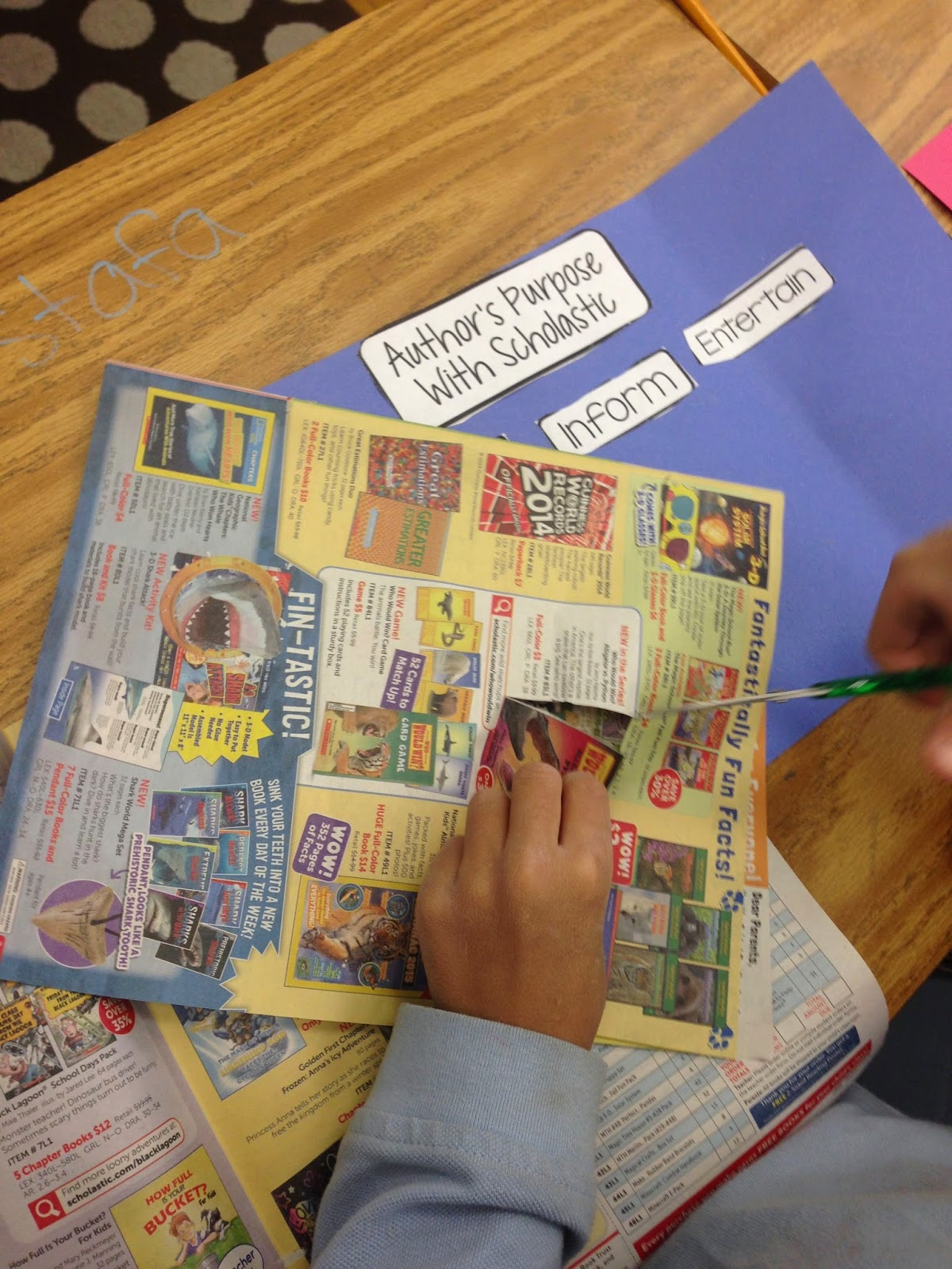 Have left over Scholastic flyers? Don't throw them out! Instead, use them to teach Author's Purpose. Find out how!