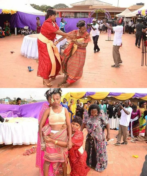 """3 - Bride Runs Mad During Wedding, After She Was Attacked By """"Her Village People"""" (Photos)"""