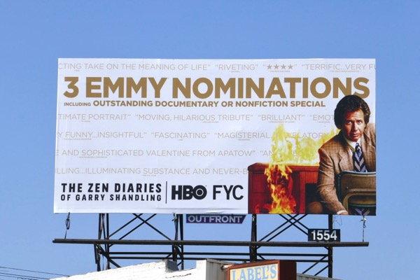 Zen Diaries Garry Shandling Emmy nominee billboard