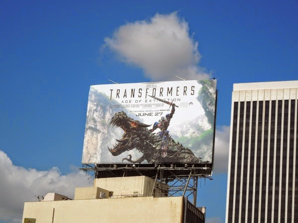 Transformers 4 movie billboard
