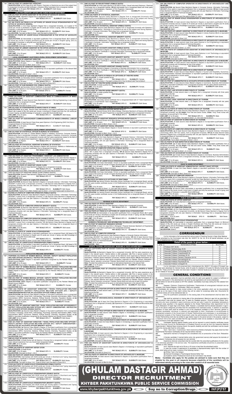 New Latest KPPSC Jobs Advertisement No. 3/2018 (3130 Vacancies), www.kppsc.gov.pk